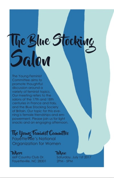 blue stocking salon flyer
