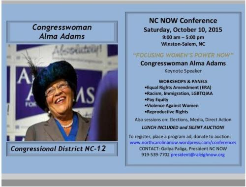 NC NOW Conference 2015 Save Date Final