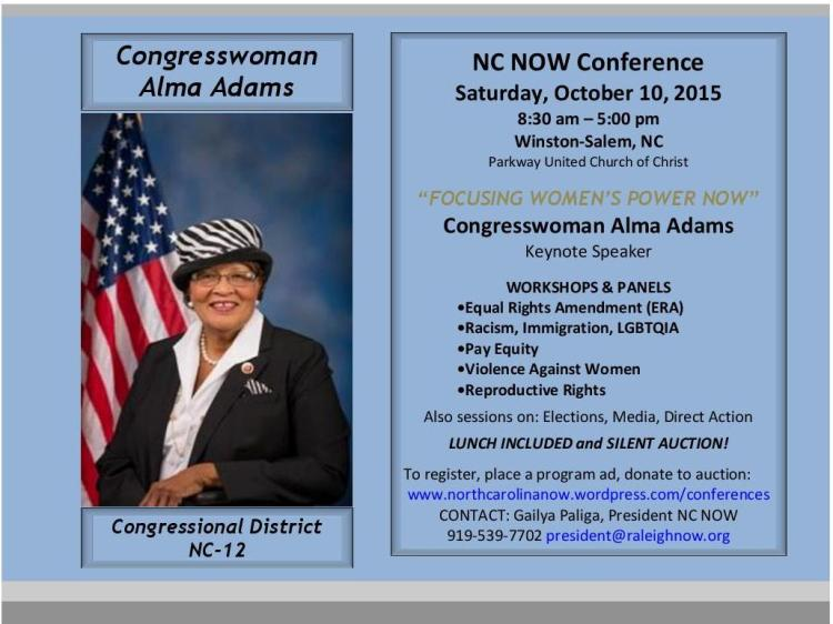 NC NOW Conference 2015 Save Date V4