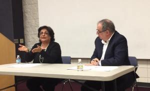 Dr. Naveed Aziz with Rick Glazier on panel. Photo Credit: Dr. Aziz