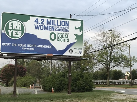 The new billboard in the Greensboro area.