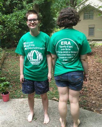 Green ERA T-shirt with ERA wording in circle