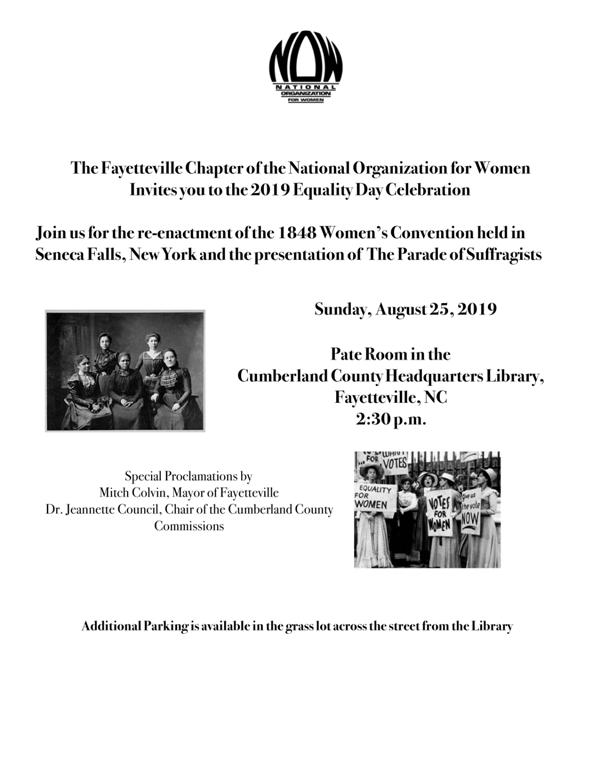 Women's Equality Day Event 8/25/19 Poster