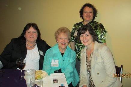 Jan Allen with Pam Wade, Gailya Paliga and Sandra Fluke