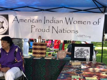 American Indian Women of Proud Nations Booth on 9/7/19
