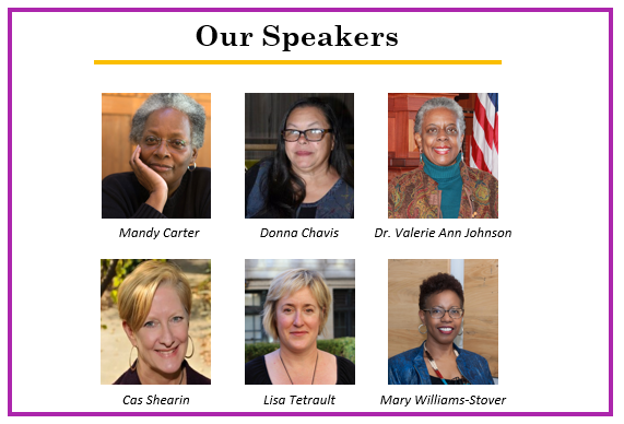 Six main When Women Gather event speakers